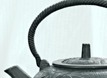 This art photo of a cast iron teapot was taken by photographer John Frenzel from Millbrook, New York.